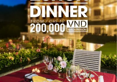 EXCITING PROMOTION FOR HAPPY LUNCH/DINNER WITH ONLY 200,000 VND / 1 PAX