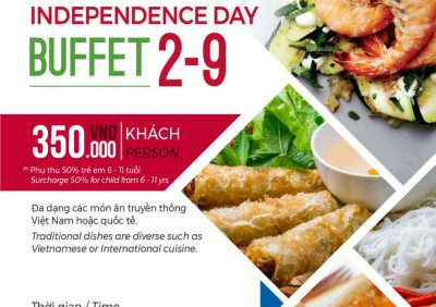 "Buffet Party on Independence Day 02/09 at ""French Town"" with 350.000 VND"
